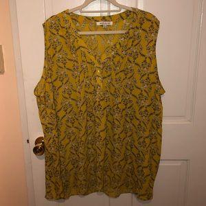 ROSE & OLIVE: Yellow sleeveless top